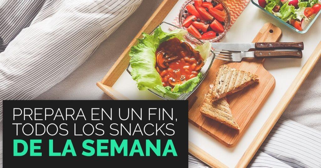 Diferentes snacks deliciosos y saludables.