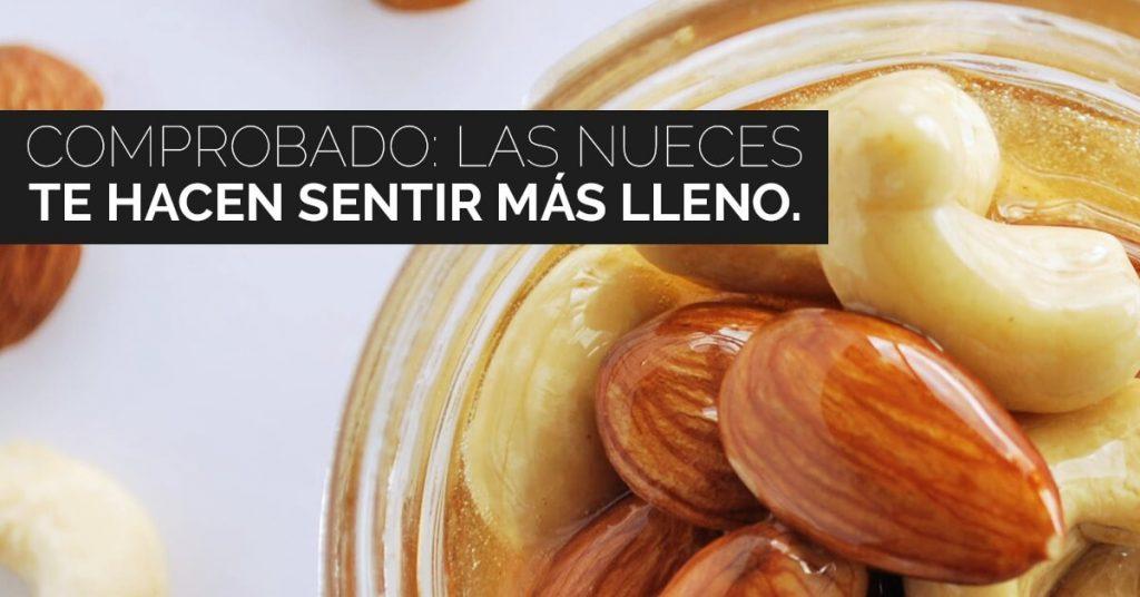 Las nueces tu ayudan a sentirte más satisfecho.
