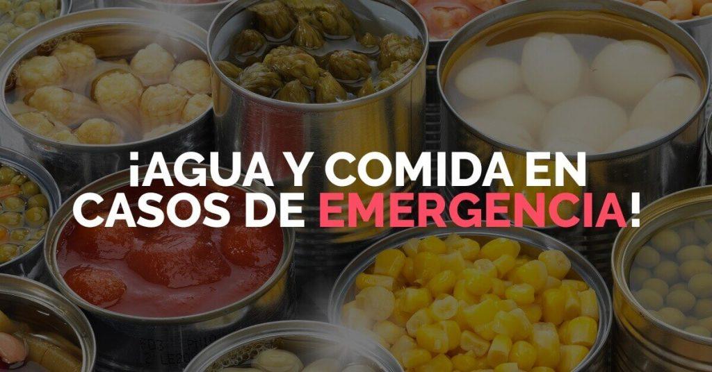 En casos de emergencia, es indispensable saber qué hacer con respecto a nuestra alimentación.