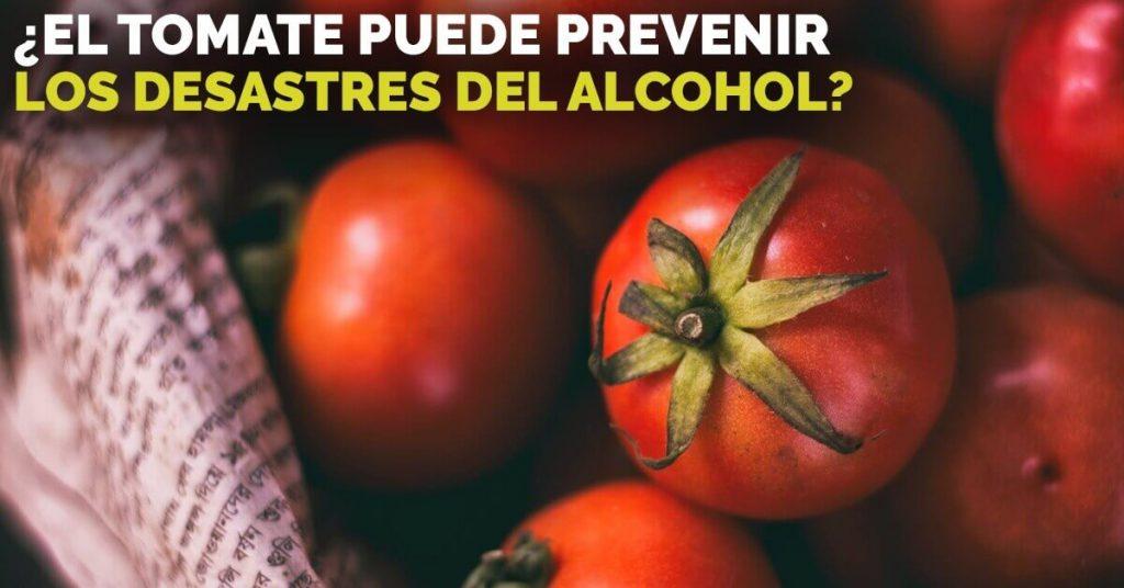 El tomate puede ayudar a protegernos de los efectos del alcohol.