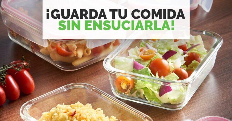 Aprende a guardar tu comida sin ensuciarla.