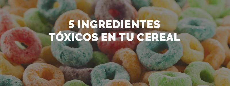 Podrían existir varios ingredientes tóxicos en tu cereal.