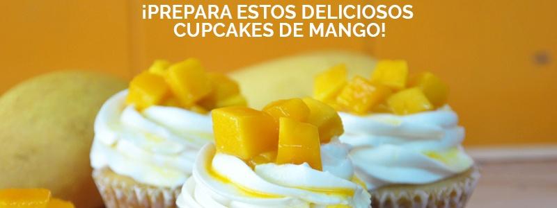Los cupcakes de mango están llenos de nutrientes.