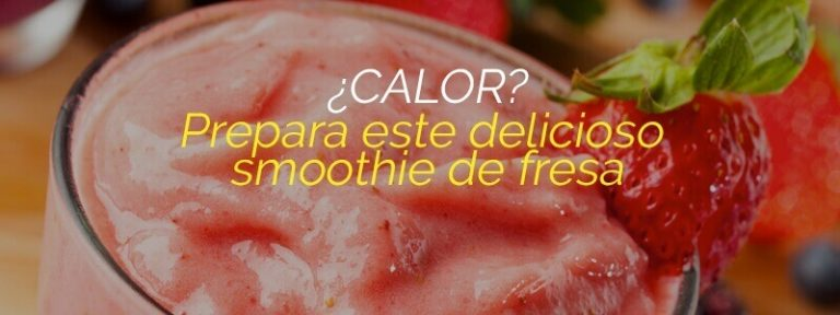 Deliciosa y saludable receta de smoothie de fresa.