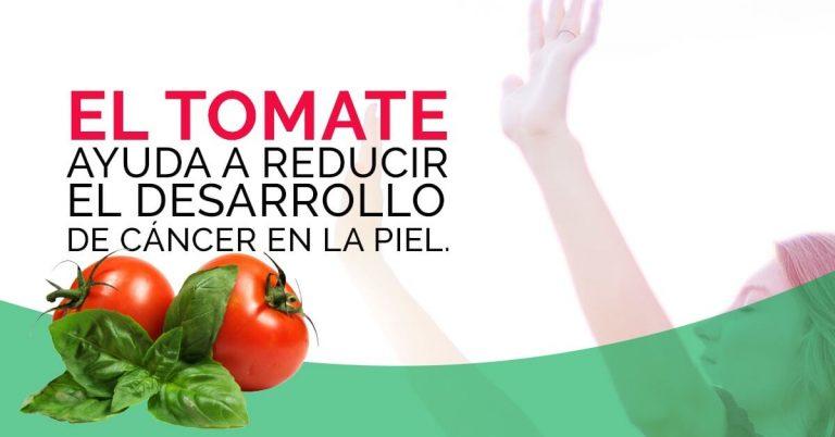 El consumo de tomate protege contra el cáncer de piel.