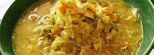 Receta de sopa de repollo saludable