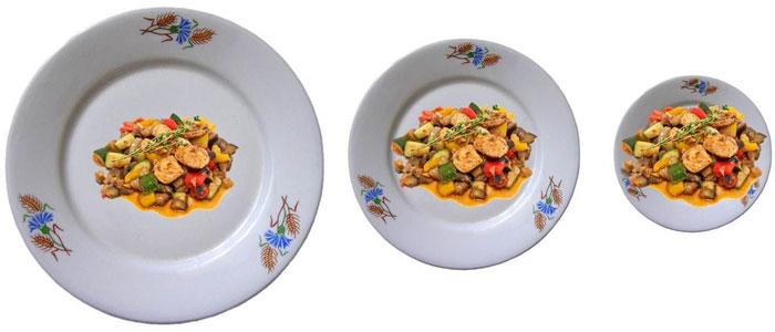 Los platos pequeños te hacen comer menos